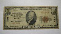 $10 1929 Catskill New York NY National Currency Bank Note Bill Ch. #1294 RARE!