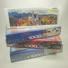 LOT of FOUR (4) EUROGRAPHICS 1000 Piece Jigsaw Puzzles Christmas Season Europe