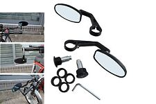Quality BLACK CNC Machined Bar End Mirrors for Kawasaki Cafe Racer Project PAIR