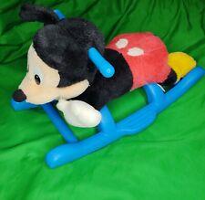 Disney Mickey Mouse Musical Plush Rocking Horse Child Toddler Riding Toy Rare