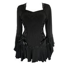 Dare to Wear BOLERO Victorian Corset Top Solid BLACK Jr Size S -MSRP $70