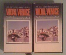gore vidal VIDAL IN VENICE part one / part two VHS VIDEOTAPE LOT