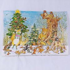 Caspari Christmas Advent Calendar 3D Pop Up The Animals Christmas 1465