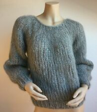 MAIAMI Mohair Pleated Sweater - Size: M/L - Color: Sweatergrey