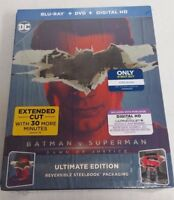Batman v Superman Dawn of Justice Superman Blu-Ray Steelbook Imperfections NEW
