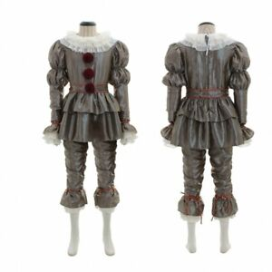 Kid's It Chapter Two 2 Pennywise Clown Cosplay Costume Outfit Horror Halloween