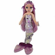 "TY LORELEI Purple SEQUIN MERMAID 18"" 45cm SOFT TOY"