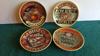 "NOS 2004 Heinz Set Of 4 Plates Apple Butter Pickles Tomato Soup 6"" New LTD ED A7"