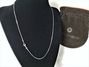 """John Hardy - Sterling Silver Mini BOX Chain Link Necklace - 18"""" length - Mint!"""