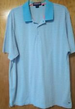 Vineyard Vines Shep & Ian Golf Polo Shirt Blue white & salmon Striped Mens XL