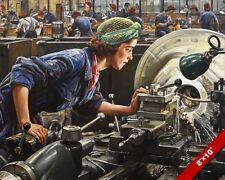 RUBY THE METAL MACHINIST WWII BRITISH WOMEN WAR EFFORTPAINTING ART CANVASPRINT