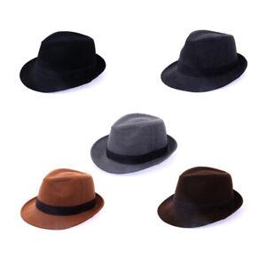 2XL 64Cm Unisex Mens Classic Wool Casual Fedora Trilby Soft Hamburg Bowler Hats