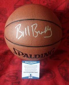 Bill Bradley Beckett Authenticated Signed NBA Ball HOF New York Knicks