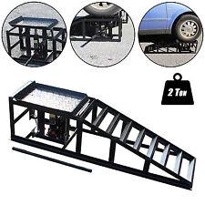 Tech7 Vehicle Car Ramp Lift 2 Ton Hydraulic Jack Garage Heavy Duty Black Single
