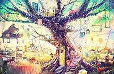 Grande Impresión en Marco - Funky Abstracto Tree Of Dreams (Imagen Arte Piano