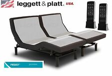 PRODIGY 2.0 LEGGETT AND PLATT ADJUSTABLE SPLIT/DUAL KING SIZE BED/BASE (EASTERN)