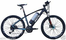 GS1.0 CARBON FIBER MID-DRIVE ELECTRIC BICYCLE BLACK/RED (PEDAL ASSIST&THROTTLE)