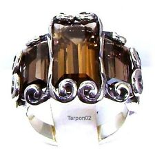 Carolyn Pollack Baguette Smokey Quartz  5.50ct   Ring - 6