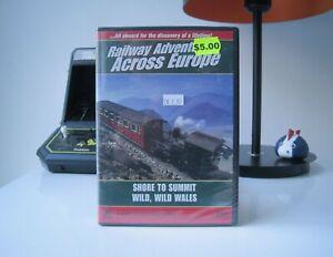 RAILWAY ADVENTURES ACROSS EUROPE SHORE TO SUMMIT WILD, WILD WALES - DVD   SEALED