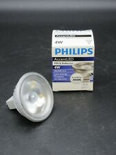 PHILIPS MR16 4W ACCENT LED NEW LOT OF 9 COOL WHITE SP10
