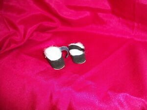 """BLACK  DOLL SHOES FOR MADAME ALEXANDER 12"""" LISSY OR 1950'S 12"""" SHIRLEY TEMPLE"""
