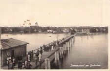 SELTEN alte Foto AK 1928@ Immenstaad am Bodensee@ Ausflügler auf Steg, Ruderboot
