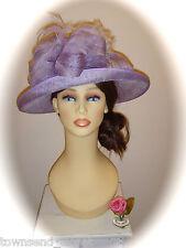 "SALE Cappelli Condici 831 Hat, Lilac 14.5"", RRP £225"