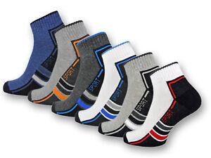 6   12 Paar Sport Sneaker Socken Herren Damen Frotteesohle Sportsocken Baumwolle