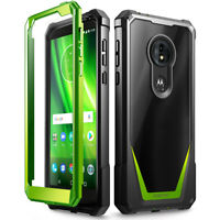 Moto G6 Play Case,Poetic Hybrid Armor Shockproof Bumper Protective Cover Green