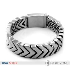 Fashion Men's Arrow V Brushed Frosted Stainless Steel Bracelet Rock Punk New B17