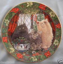 "Royal Doulton ""Cats In Winter Window Jackanory Fionora & Angelo"" P473591 Mib"