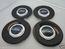Genuine Ford Fiesta ST500 Black Alloy Wheel Centre Cap Set Of 4 ST 2004-2008