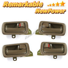 Inside Door Handle Front Rear Left Right Set 4 Brown For 92-96 Toyota Camry NEW