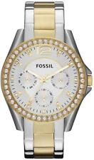 NEW Fossil Riley Multi-Function Two-Tone Stainless Steel Ladies Watch ES3204