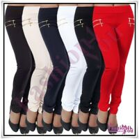 Sexy Women's Skinny Treggings Ladies Casual Trousers Pants Size 8,10,12,14,16 UK