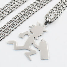 GNAYY Polished stainless steel Hatchet Man Pendant Necklace Fashion Chain 24''