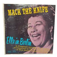 ELLA FITZGERALD Mack The Knife - Ella In Berlin VERVE LP mono VG+ / VG