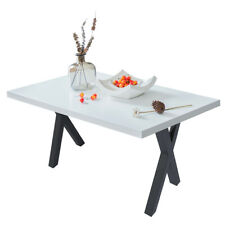 Set of 2 28'' Modern Industrial X-Shape Table Legs Heavy Duty Dining Table DIY