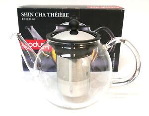 NEW Bodum Shin Cha Tea Press Glass Teapot 4 Cup / 34oz No. 1803 New in Box