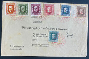 1925 Weipert Czechoslovakia Cover Mazarik Stamps