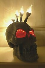 Barber Shop Tattoo Studio Window Display Skull Lamp Man Cave Handmade Loft Art B