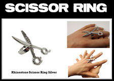 Stylist Jewelry Beauty Silver Hair Scissor Ring for Hairdressers