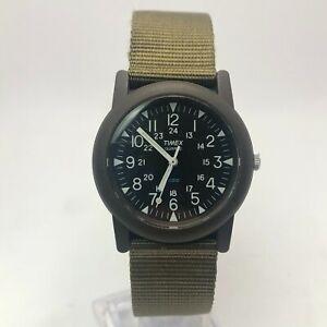 Vintage Timex Mens Macguyver Field Analog Camper Military Quartz Wristwatch