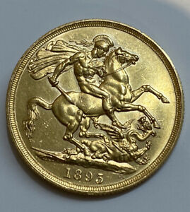1893 Victoria St George and the Dragon £2 Two Pound Gold Double Sovereign Coin
