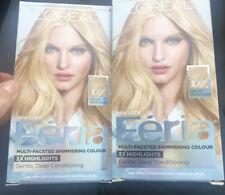 (2) L'oreal Paris Feria Very Light Natural Blonde 100 3x Highlights Hair Color