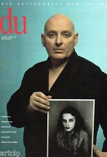 Magazine DU - Urs Lüthi - Art for a better Life.  - juin 2001