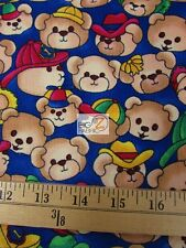 """Bear Print By South Sea Imports 100% Cotton Corduroy Fabric 45"""" Sold Bty Fh-1100"""