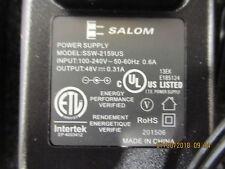 SSW-2159US Salom Power Supply; Input: 100-240 VAC 0.6A; Output: 48 V BRAND NEW!