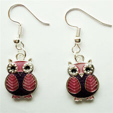 1 pair  Women Ornament Fashion Accessories Charm Jewelry silvery Owl Earring #92