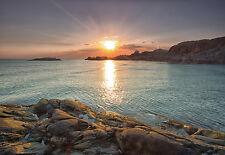 """CHOIS WM4084 Landscape Wall Mural Sea Shore Sunset Wallpaper Sticker 100"""" x 145"""""""